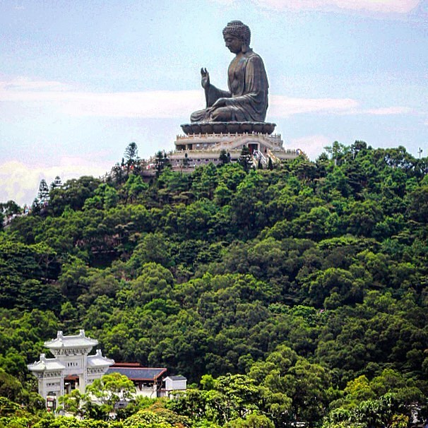 """In addition to its peaceful countryside, Hong Kong is home to a 35-meter-tall Buddha statue - one of largest on the planet. The towering golden figure is situated on Lantau Island and is known as """"Tian Tan"""".⠀ . ⠀ 📷 @shanesphoto⠀ 📍 Lantau Island, China⠀ .⠀ Tag your travel photos with #TakeOffSetSail to get featured!⠀ .⠀ #WanderCurious #travelchina #travelhongkong #photooftheday #buddha #bigbuddha #tiantan #chinesetravel #keepcalmandtravel #travelphotography #travelblog #travelblogger #photographersofinstagram #china #hongkong #stunningcuration #shareyourphoto⠀"""