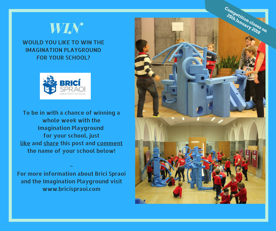 Comptetion! - To celebrate the first week back at school for 2018 we are giving you the opportunity to WIN the Imagination Playground for a week at your school!You must:LIKE our Facebook page,SHARE the post,TAG two friends,COMMENT the name of your school                   to be in with a chance of winning.Competition closes on 25th January 2018