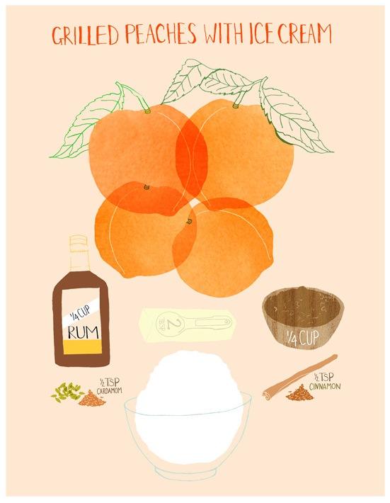 Claudia Pearson - Grilled Peaches