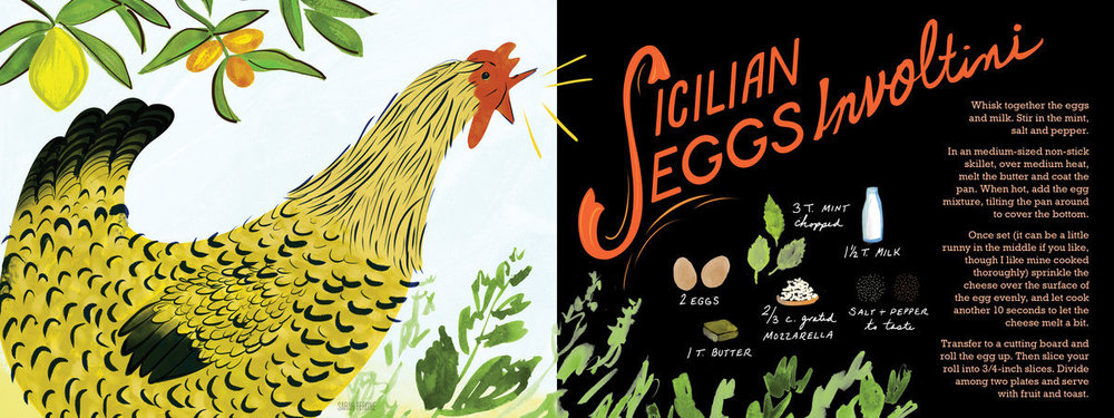 They Draw & Cook - Sicilian Eggs Involtini by Sarah Ferone ( source )