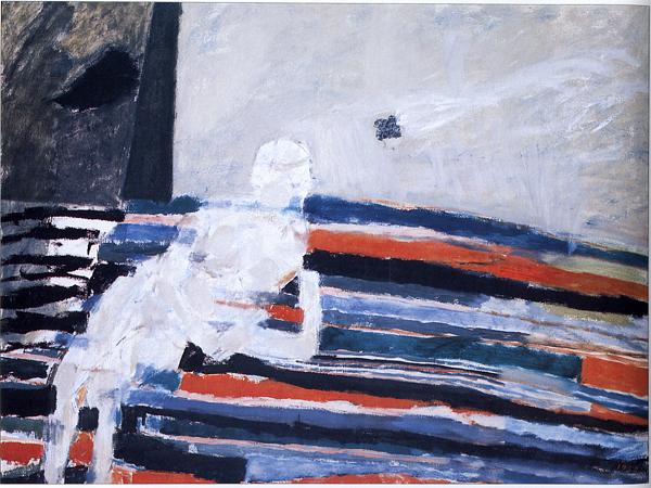 mapart.me:   Piotr Potworowski - Girl Sitting On Stripes