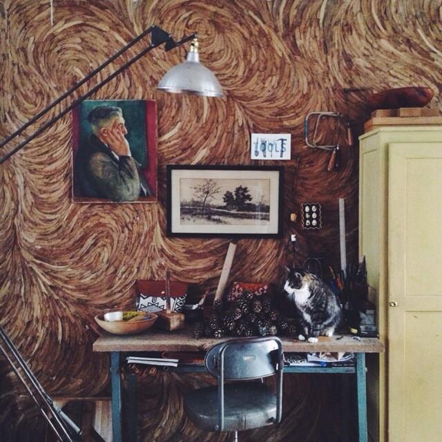 Ariele Alasko - eucalyptus leaf wall