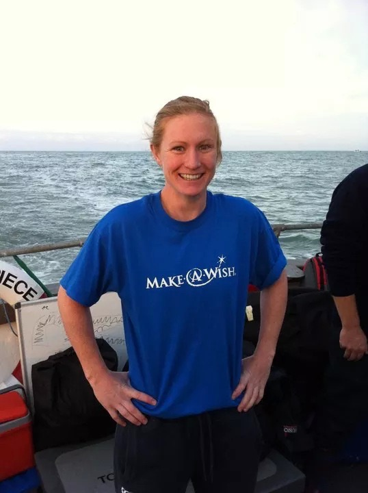 Getting ready to brave the English Channel to raise money for a charity close to my heart 'Make A Wish'