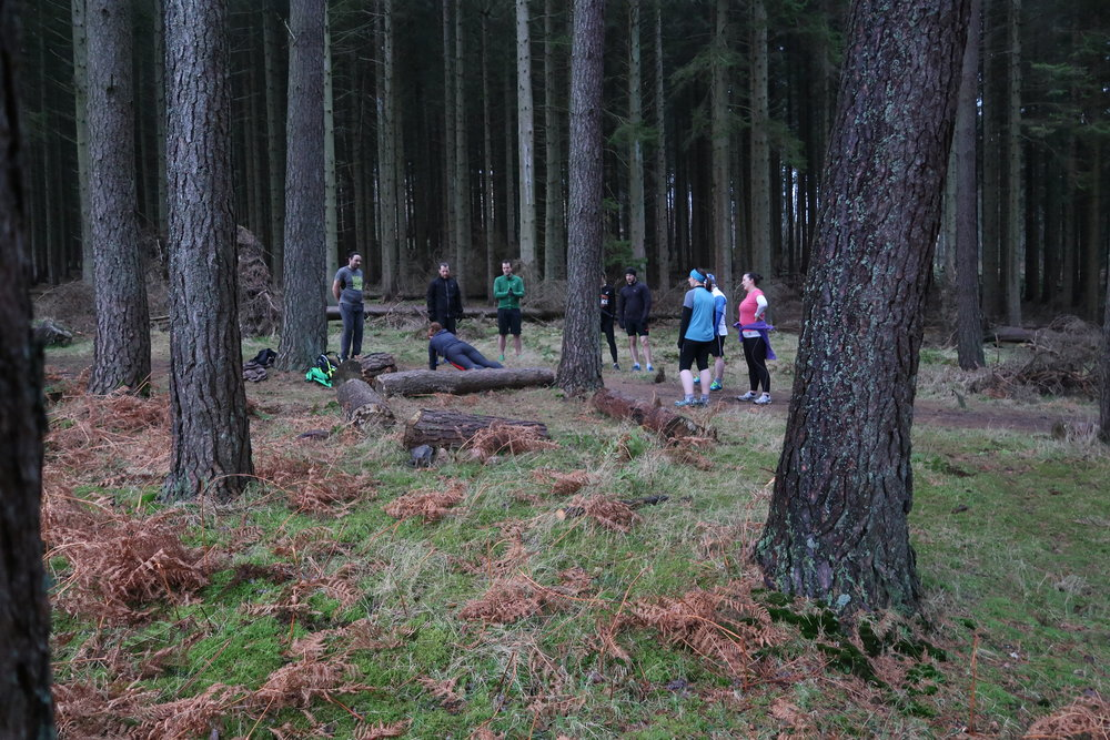A short rest for the Trail Tribe as I explained and  demonstrated all the exercises!