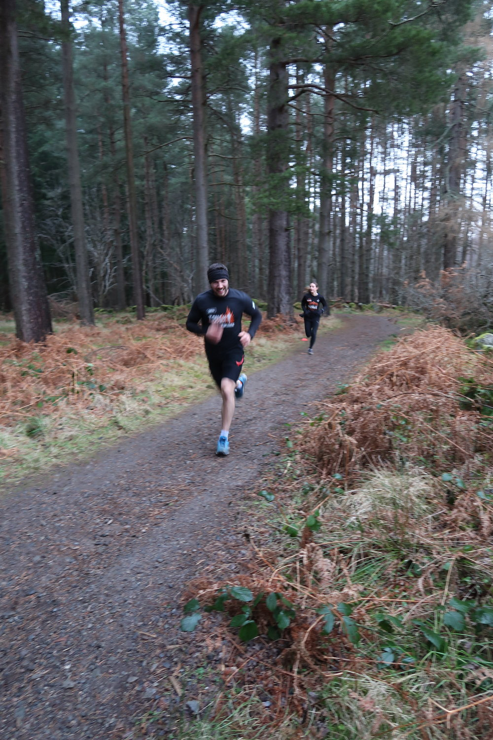 The competition was on, pushing it up the hills!