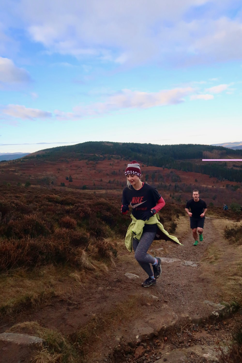 Catherine and Doug running up the climb! What an awesome effort!