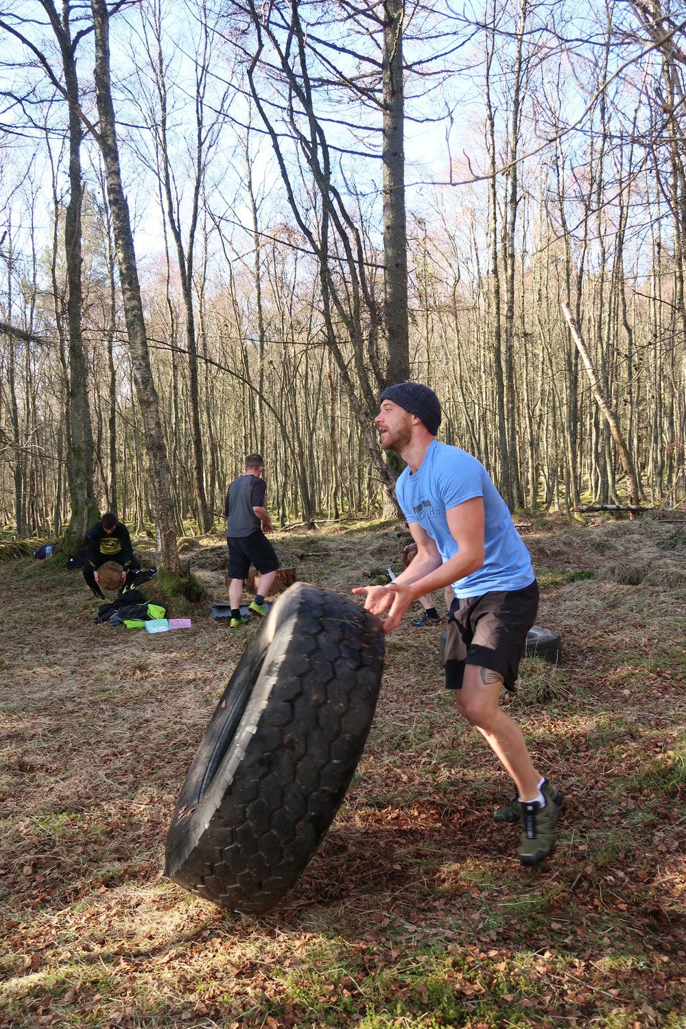 Lewis joined for his first session and smashed the tyre flips!