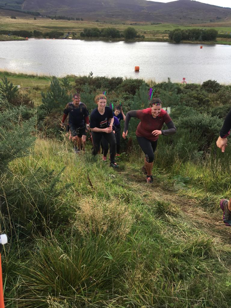 Lisa tamed the beast with Team Trail Tribe! Scotlands toughest obstacle course race!