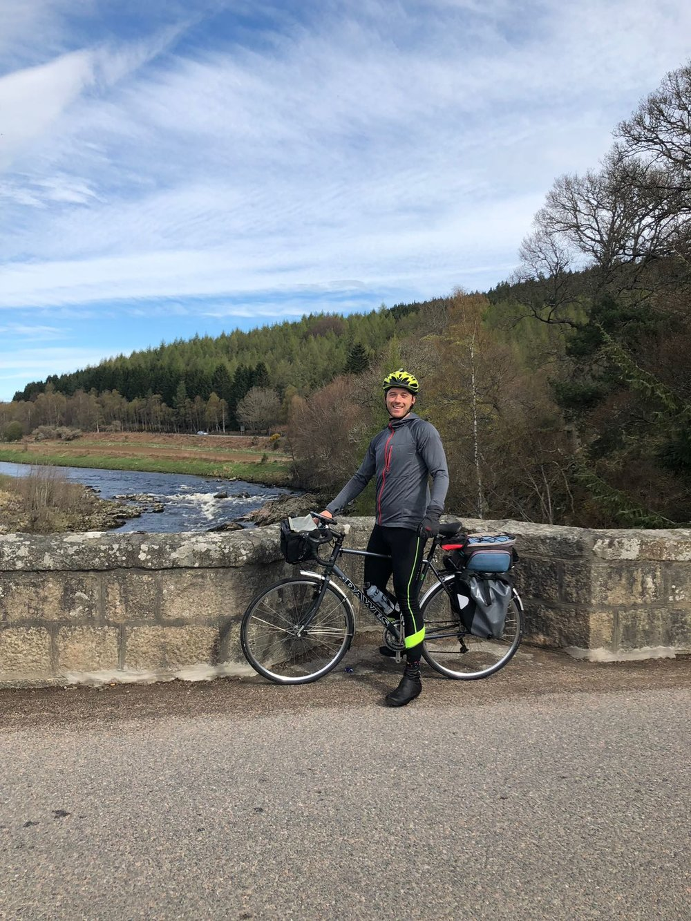 Smiling as Royal Deeside is a great place to train for a cycle challenge!