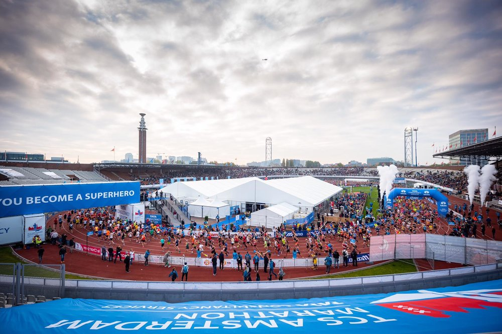 A cool start and finish at the Olympic Stadium in Amsterdam!