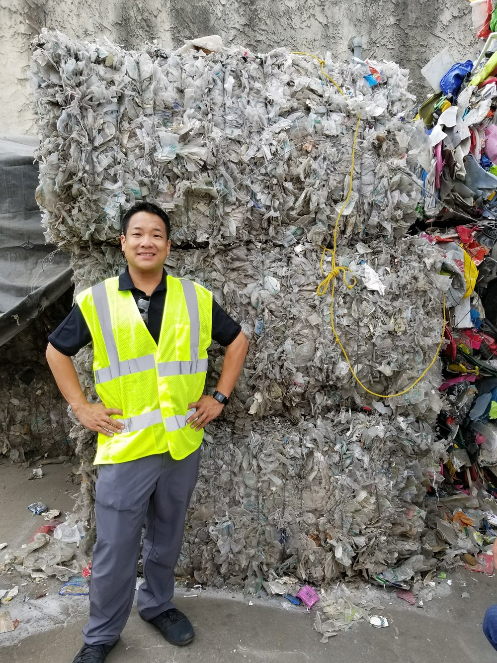 CEO, Brian Chung, touring waste processing facility