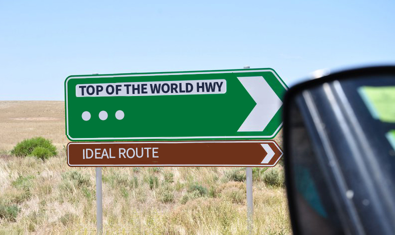 Where is your ideal destination & how will you get there?   Disclosure: Actual road sign pictured here was for World's End Highway, thanks to a wonderful South Australian roadtrip, which I've rejigged to be less dystopic and more inspirational. And yes I'm now singing the Carpenters!