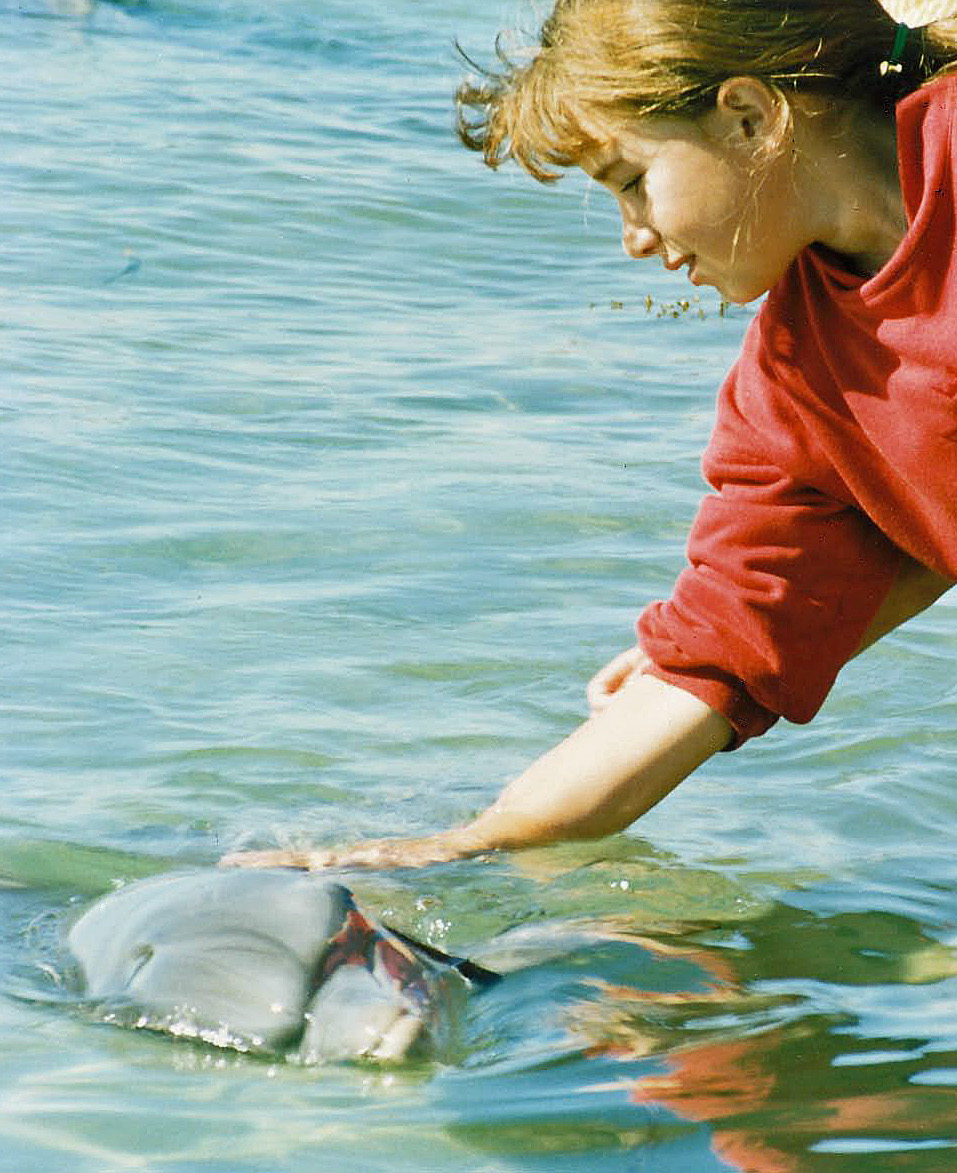 This pic of 11yr old me was the unexpected one my Dad sent :) Sublime indeed, though of course we are no longer allowed to pat  wild dolphins in Monkey Mia.  Gee, I've always loved escaping into nature and the sea…