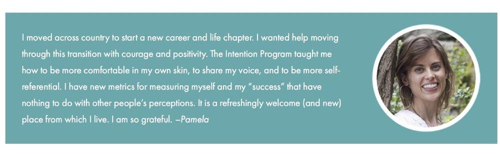 Pamela testimonial