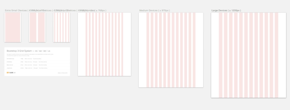 our free bootstrap 3 grid template for sketch photoshop cc axure