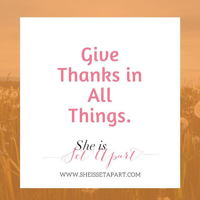 Happy Thanksgiving week Ladies! . We are so grateful for you! . . . #sheissetapart