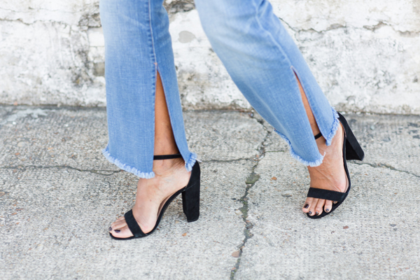 Style Tip! - To change the look of the jeans, I had the seamstress cut slits on each side of the legs and fray the hem.  The more I wash the jeans, the more frayed the hem will be.  Totally a way to elevate the style of the jean! You'll be seeing more of these jeans in future post...love them!