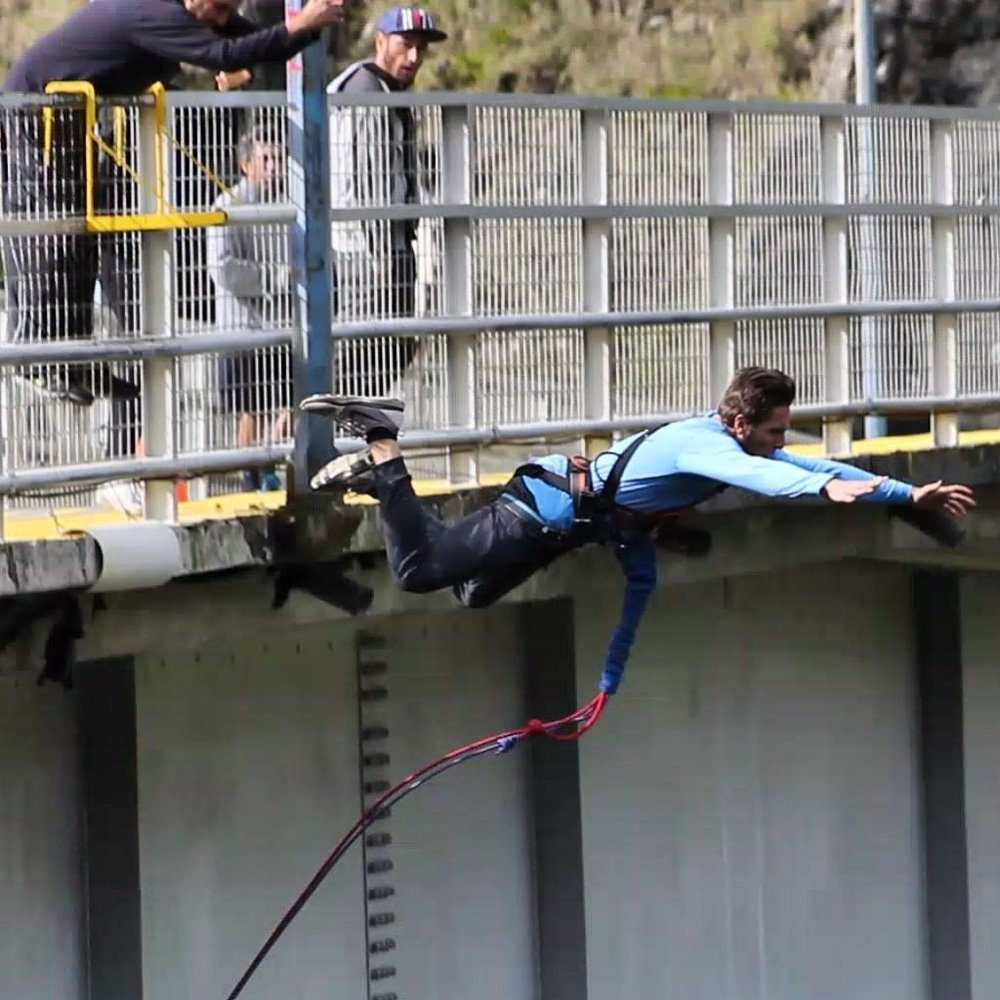 Bridge Jump in Banios, Ecuador
