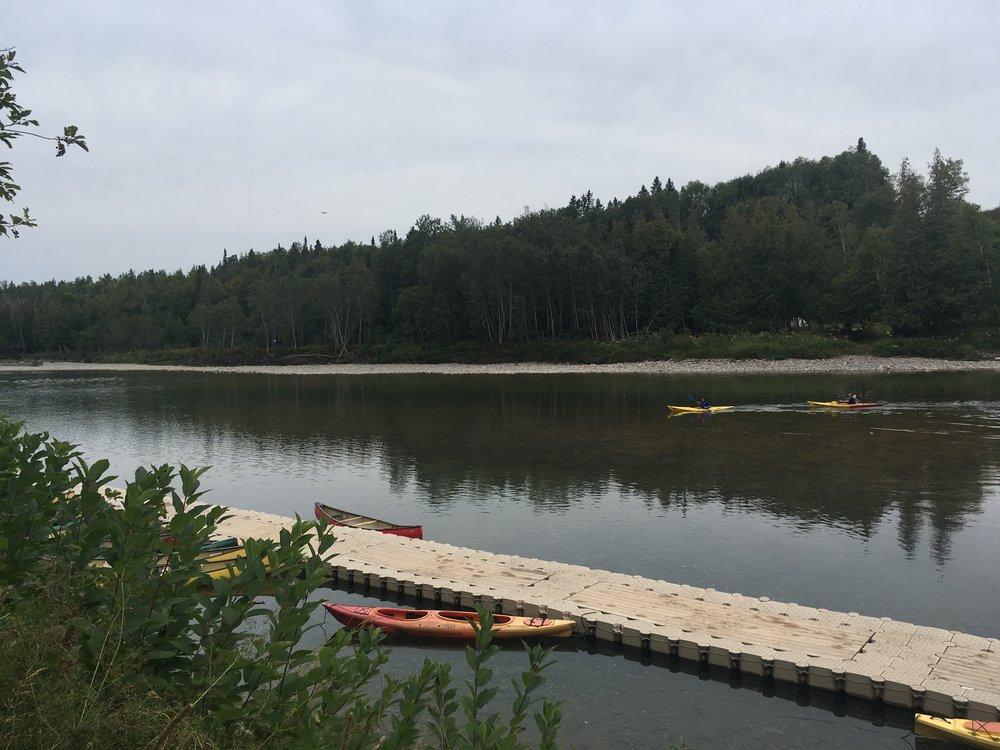 Kayaks At Cime Adventures On The Bonaventure River