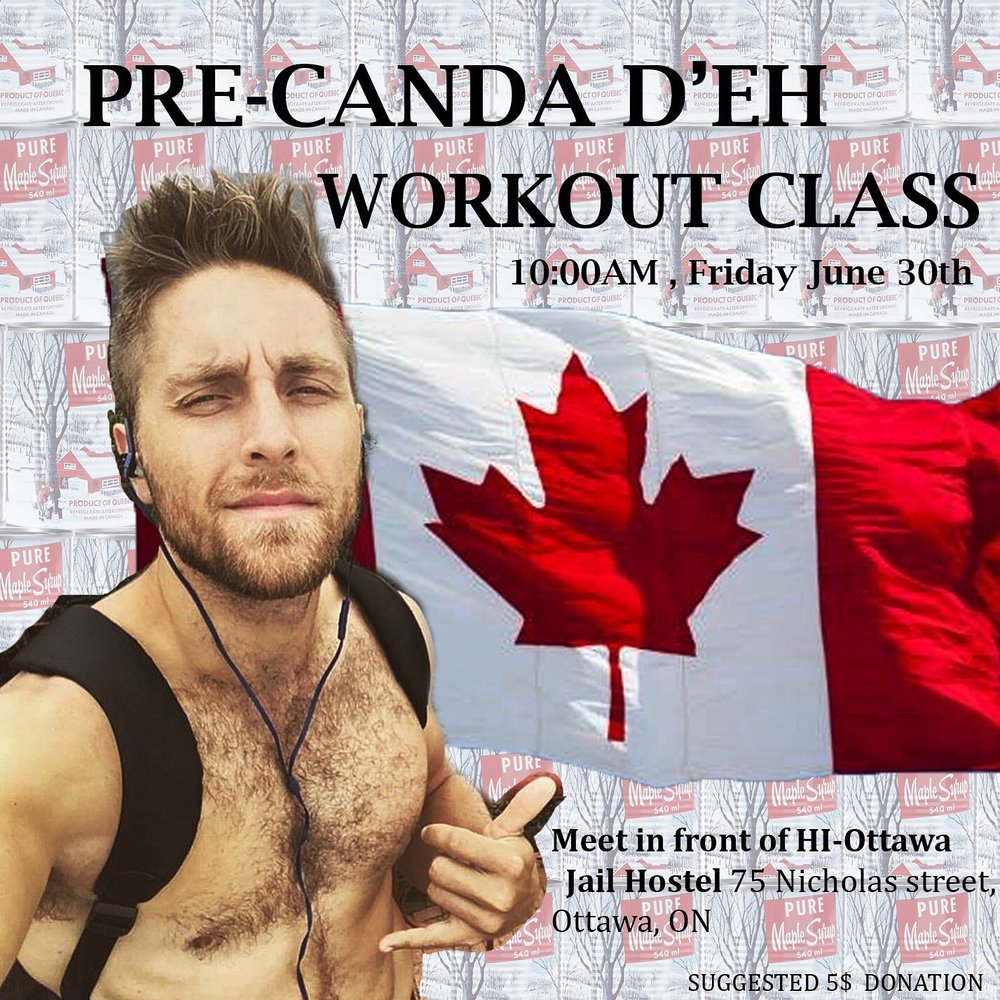 TBT: The poster from my Canada D'eh Workout