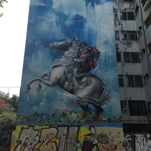 Gaucho History Represented Through Graffiti In Buenos Aires, Argentina