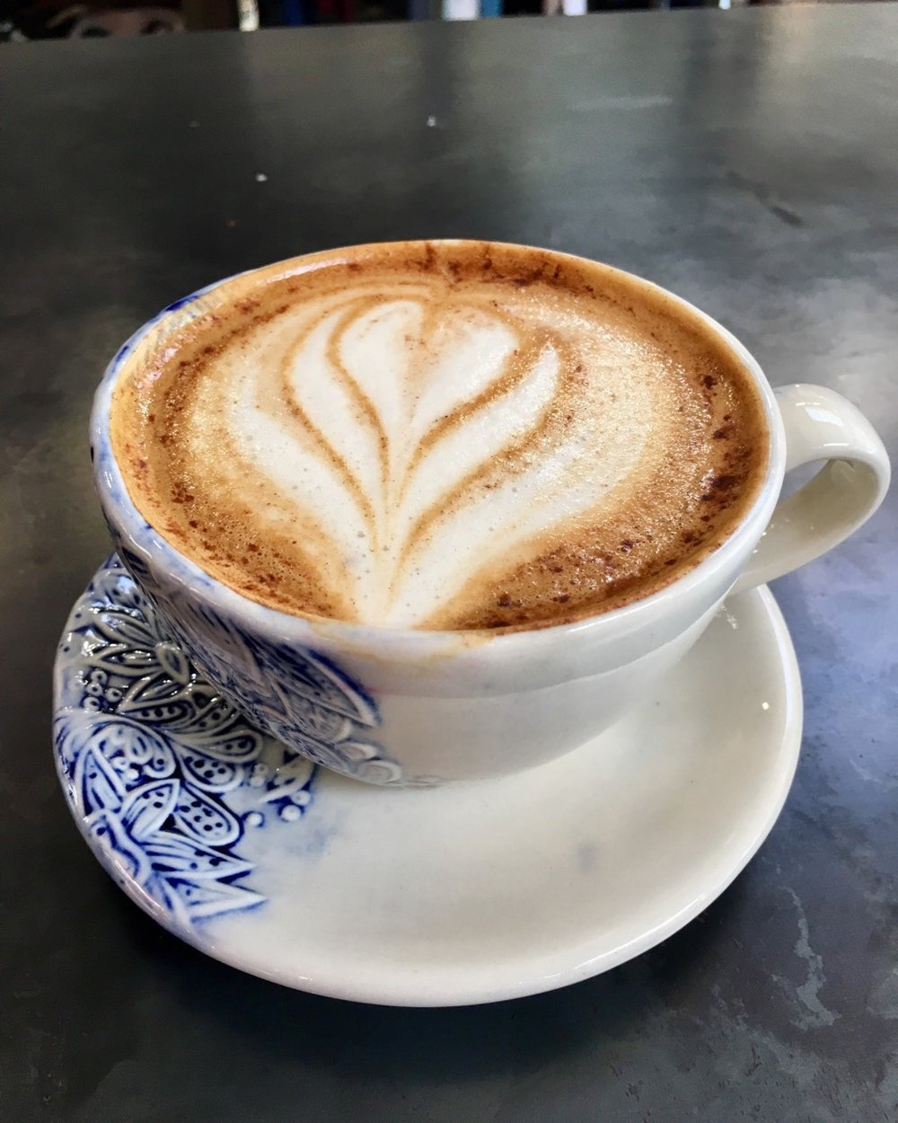Honey Cinnamon Latte at James Coffee