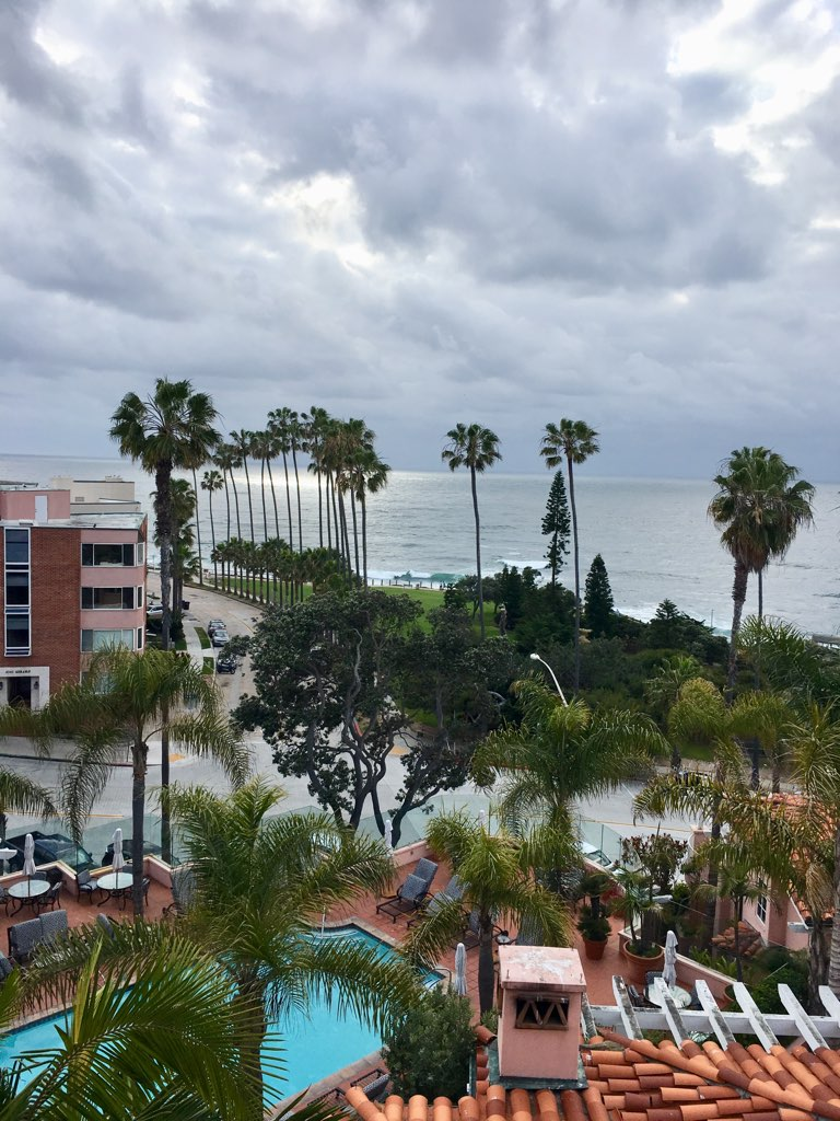 The scenic view from La Valencia Hotel
