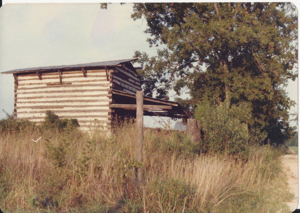 Baux Mtn landscape 1984 tobacco barn.jpg