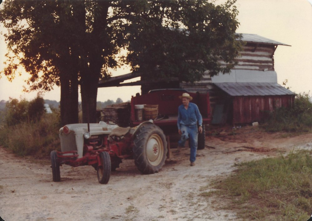 Pa & his tractor