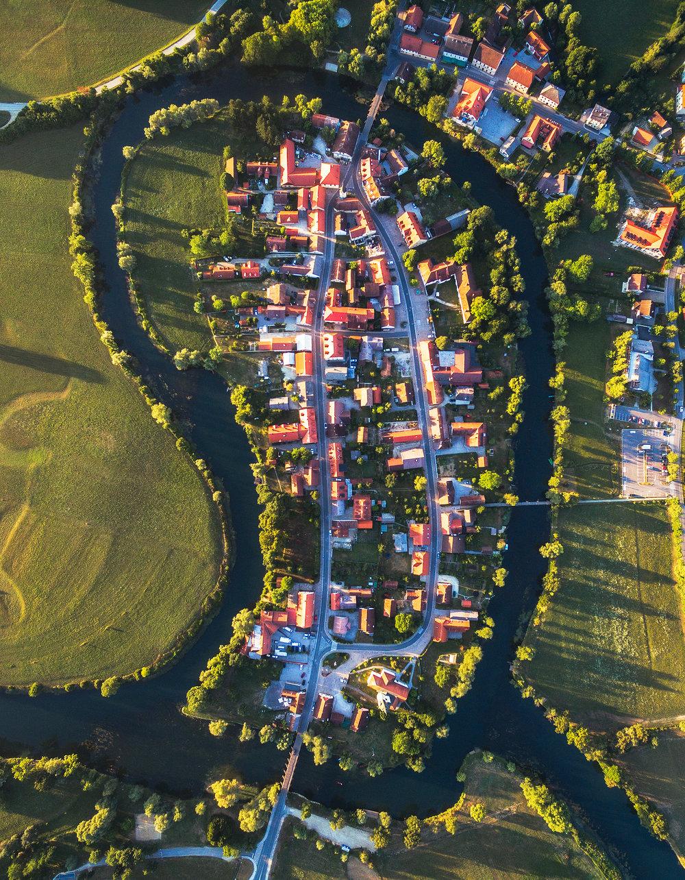 Kostanjevica na Krki Slovenia aerial photo by Michael Matti.jpg