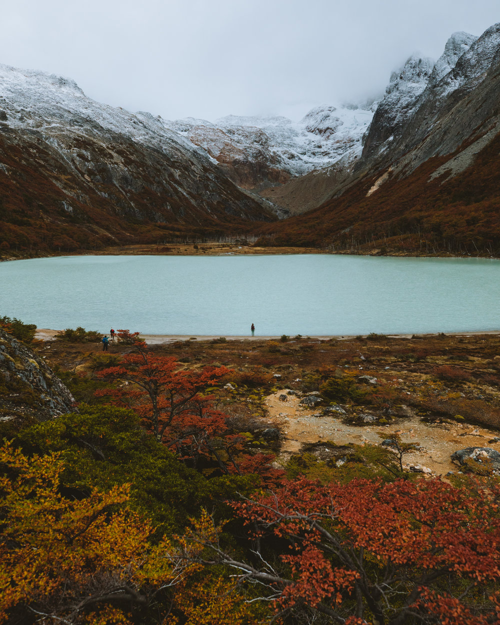 The hike up to Laguna Esmeralda in early April (autumn in South America).