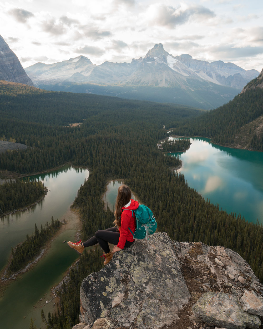 Opabin Prospect overlooking Mary Lakes and Lake O'Hara, photo / Ryan Clennett