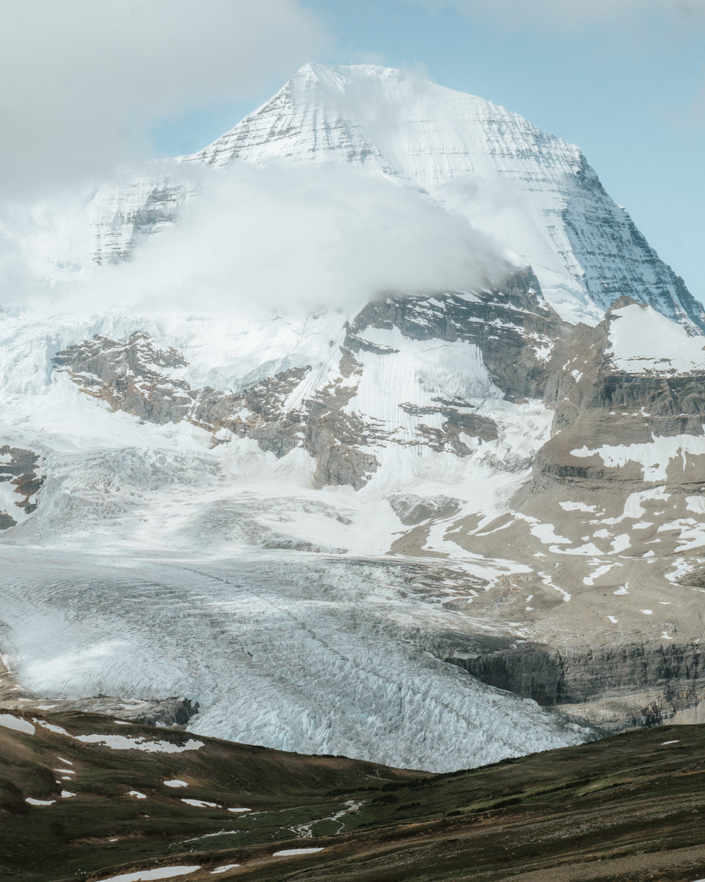 The view of Mount Robson from Snowbird Pass.