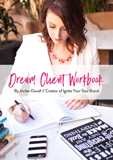 Dream Client Workbook Cover to help with your branding
