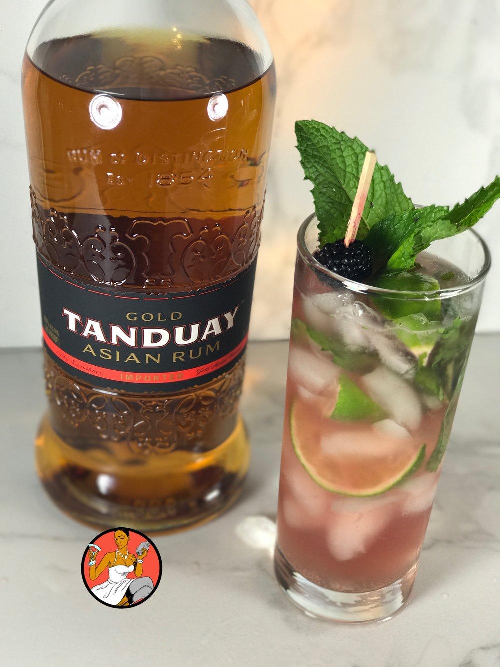 black tanduay mojito
