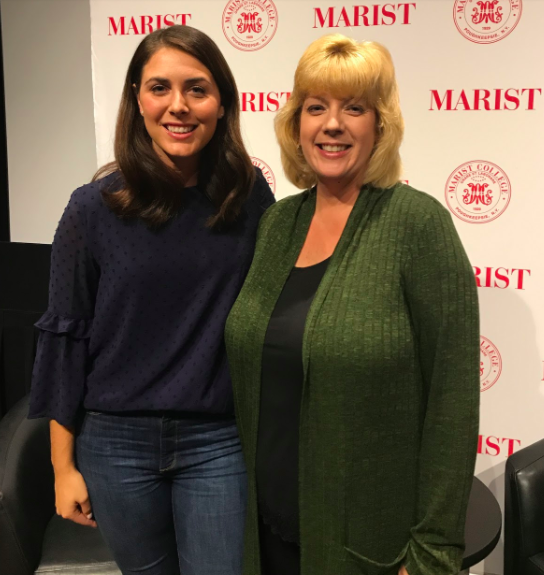 Kelsey Donohue with Marist communications professor Jennie Donohue. Photo courtesy of Margaret Price.