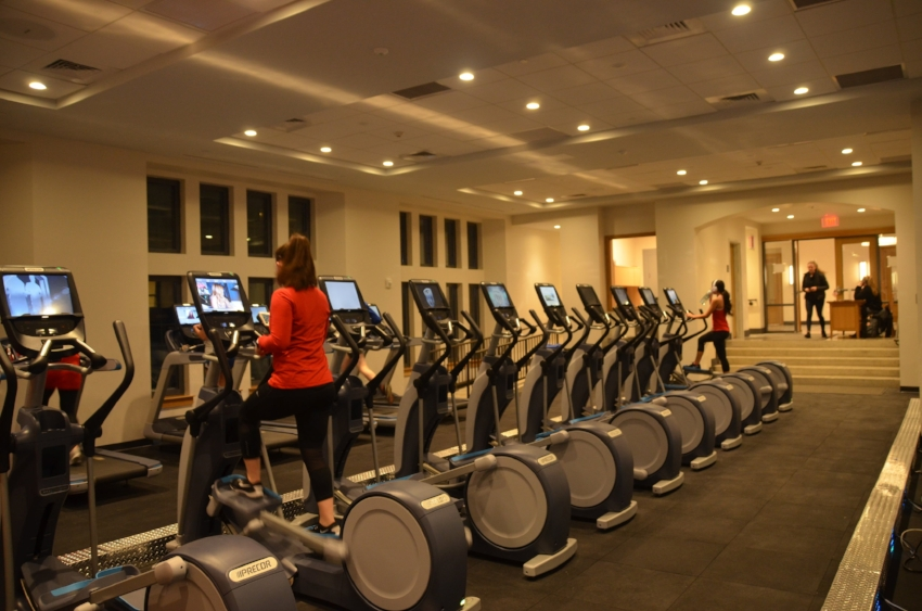 The new Fitness Center located in Building D