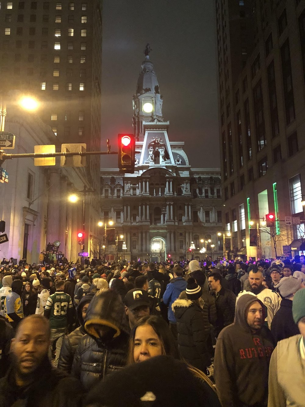Fans pack the streets of Philadelphia. Photo Courtesy of Michael Conway.