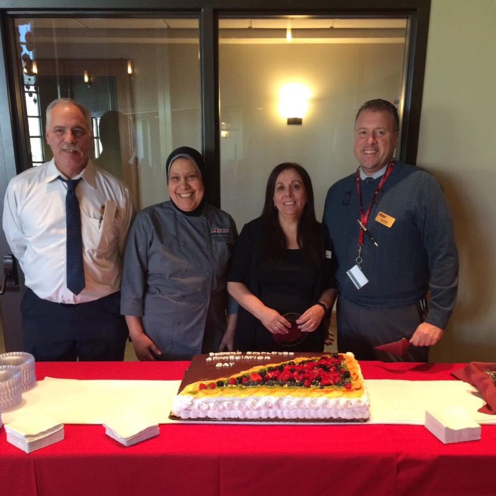 Sodexo Staff enjoying Sodexo Employee Appreciation Day. Image provided by Abigail Ritson.