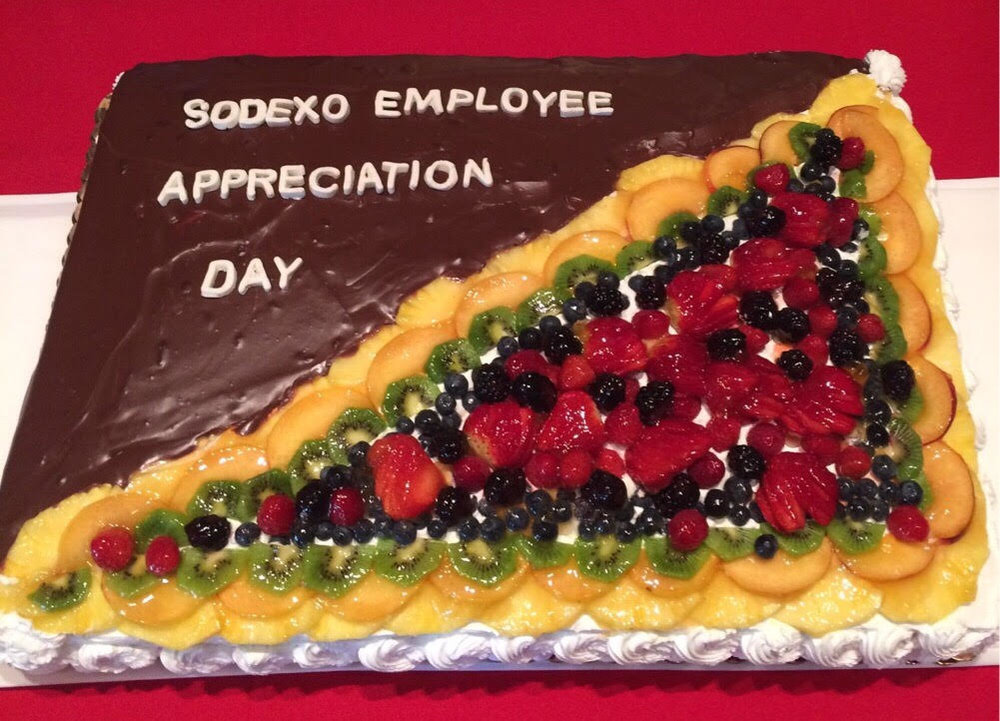 The cake from Sodexo Employee Appreciation Day. Image provided by Abigail Ritson.
