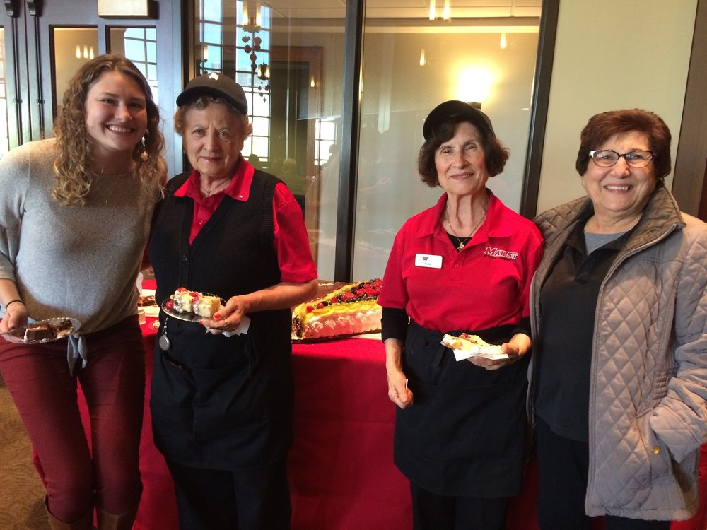 A student and some members of the Sodexo Dining Staff enjoying the celebration. Image provided by Abigail Ritson.