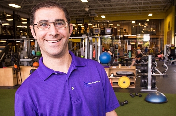 Dr. Justin Feldman pictured at his business, Feldman Physical Therapy and Performance