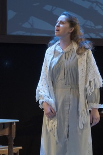 Pictured: Mia Maggiacomo '19 as Mary Warren. Photo courtesy of Brian Bocanegra.