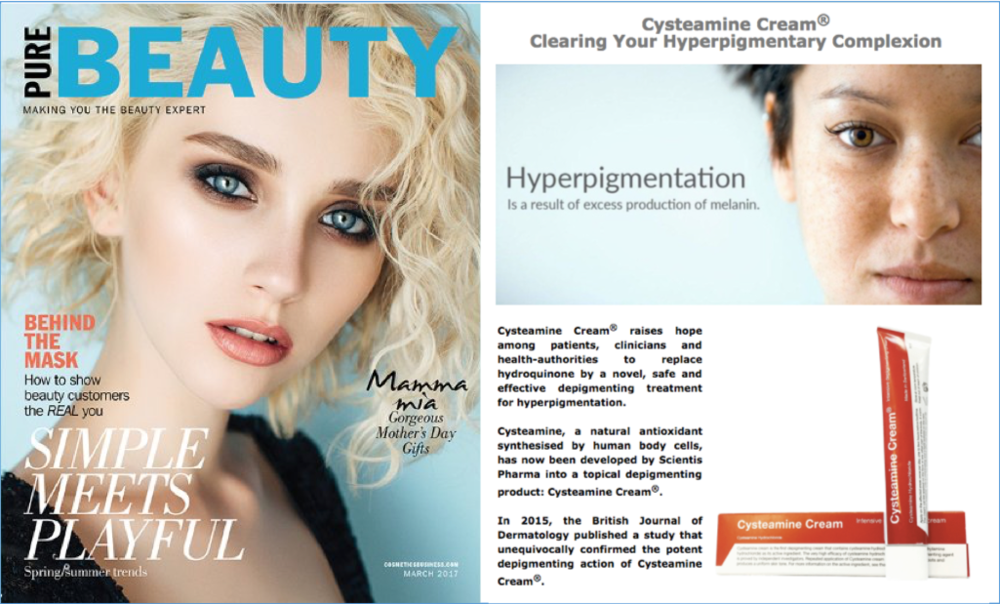 Cysteamine Cream®, Clearing Your Hyperpigmentary Complexion  -