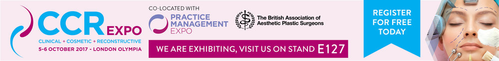 CCR Expo London 5th edition on 5-6 October 2017 at London's Kensington Olympia. UK's largest medical aesthetics event and only show to unite both the surgical and non-surgical communities.