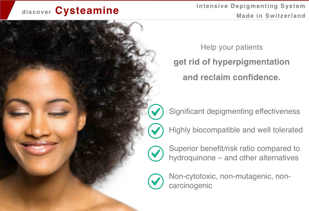 cysteamine _ intensive depigmenting treatment @IMCAS World Congress