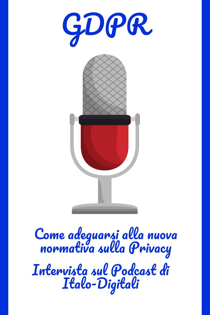 GDPR e Privacy: intervista sul Podcast di Italo-Digitali