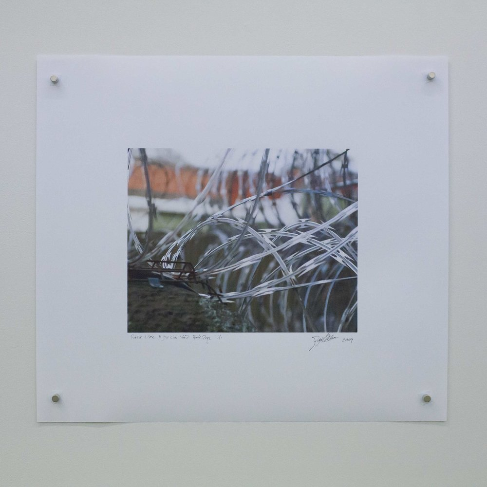 Razor Wire D Division. By Rupert Mann. 8X10 inches. 220 AUD.