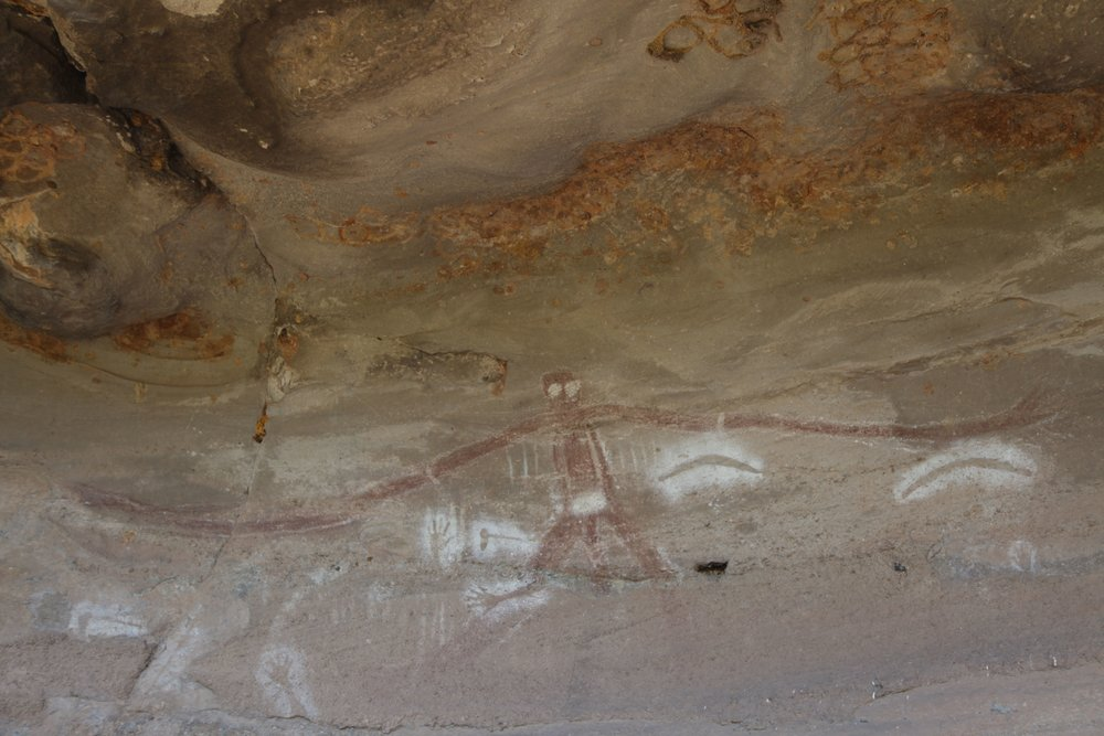 Indigenous rock art at Baiame Cave.
