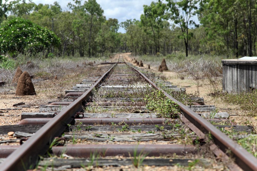 Termite mounds along the rail line at Petford. The  2016 census  recorded a population of 32 people in Petford.